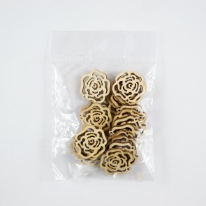 Laser Cut Wood Shape (20 Pack) Rose