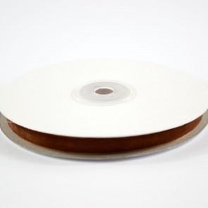 Velvet Ribbon 9mm Brown (10 Metres)