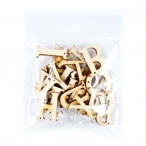 Lasercut Wood Alphabet 2cm 56Pk