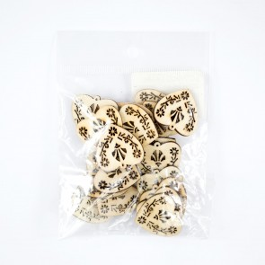 Laser Cut Wood Shape (20 Pack) Heart Intric
