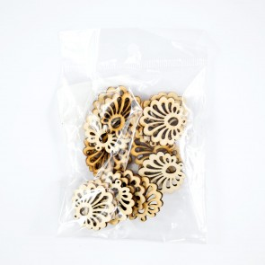 Laser Cut Wood Shape (20 Pack) Flower Bloom