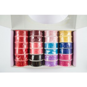 Ribbon Box 24mm x 4.5m Mesh with Sequins (24 Pack)