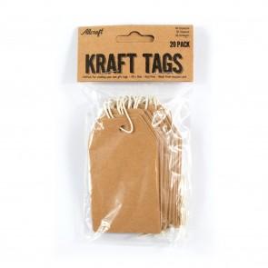 Kraft Tags 4.8 x cm (20 Pack)