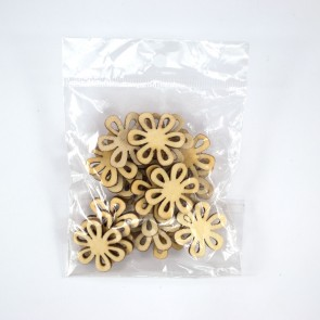 Laser Cut Wood Shape (20 Pack) Flower 6 Lea