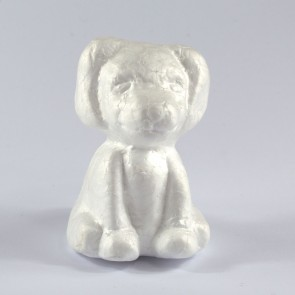Polystyrene Dog 11.5X9.5X7.5cm