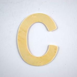 Wood Letter 10cm C