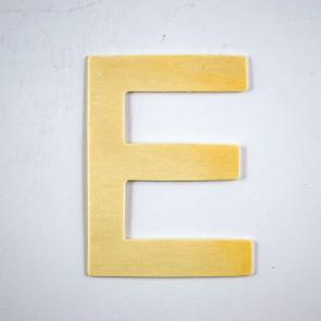 Wood Letter 10cm E