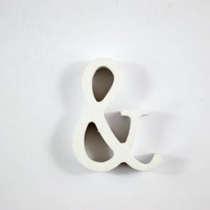 Wood Letter 6cm White &