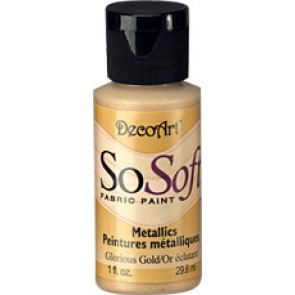 SoSoft Fabric Paint 30ml Glorious Gold Metallic