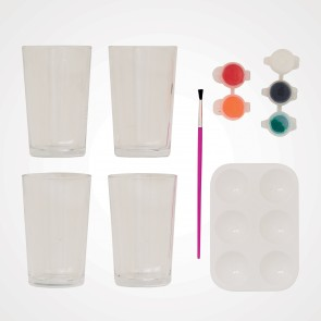 Glass Painting Kit (4pk) - Simply Make - Tumblers