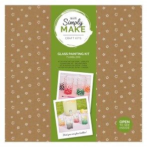 Glass Painting Kit (4pk) - Simply Make - Tumblers