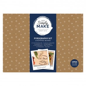Pyrography Kit - Simply Make - Chopping Board