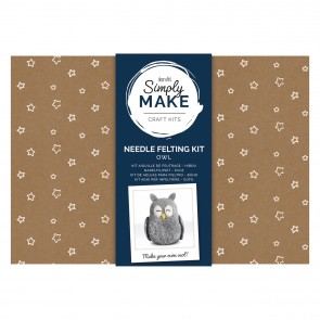 Needle Felting Kit - Simply Make - Owl