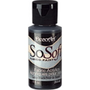 SoSoft Fabric Paint 30ml Lamp Black