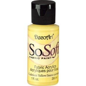SoSoft Fabric Paint 30ml Cadmium Yellow Hue