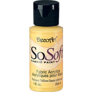 SoSoft Fabric Paint 30ml Primary Yellow