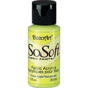 SoSoft Fabric Paint 30ml Green Apple
