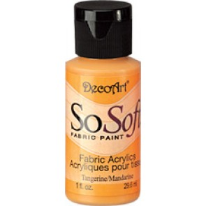 SoSoft Fabric Paint 30ml Tangerine