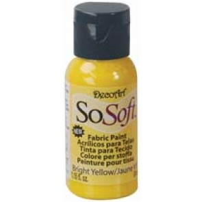 SoSoft Fabric Paint 30ml Bright Yellow