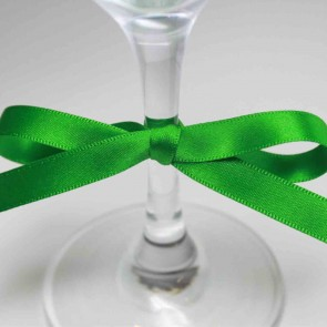 Double Face Satin Ribbon 3mm Emerald (91.4 Metres)