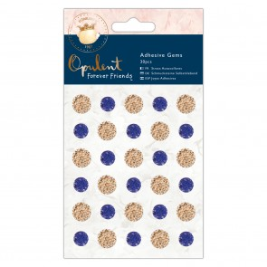 Adhesive Gems (30pcs) - Forever Friends - Opulent - Navy & Copper