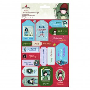 Die-cut Sentiments (2pk) - Santoro