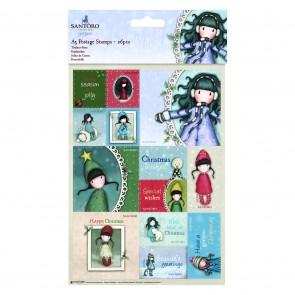 A5 Postage Stamps (26pcs) - Santoro