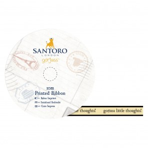 10m Printed Satin Ribbon - Santoro - Little Thoughts