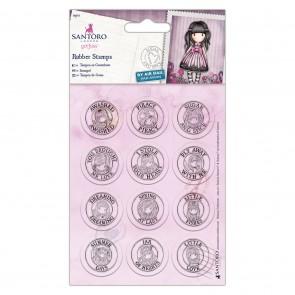Mini Rubber Stamps (12pcs) - Santoro