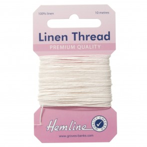 Linen Thread: 10m - White