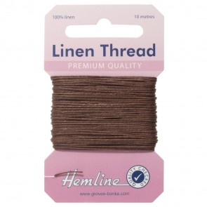 Linen Thread: 10m - Brown