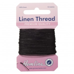 Linen Thread: 10m - Black