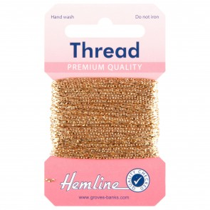 Glitter Thread: 10m - Light Gold