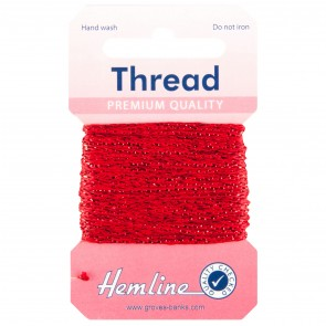 Glitter Thread: 10m - Red