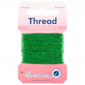 Glitter Thread: 10m - Emerald