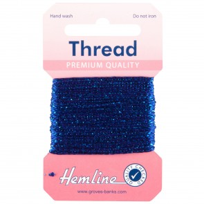 Glitter Thread: 10m - Royal Blue