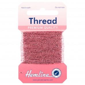 Glitter Thread: 10m - Pink