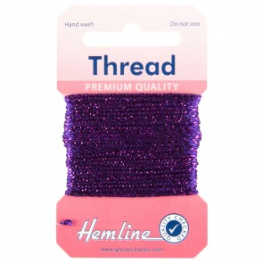 Glitter Thread: 10m - Purple