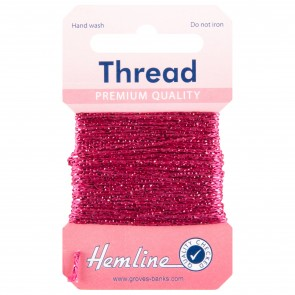 Glitter Thread: 10m - Fuchsia
