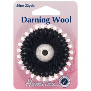 Darning Wool: 20m - Black