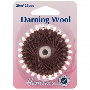 Darning Wool: 20m - Brown