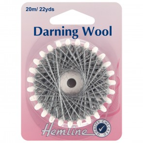 Darning Wool: 20m - Dark Grey