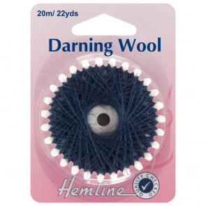Darning Wool: 20m - Navy