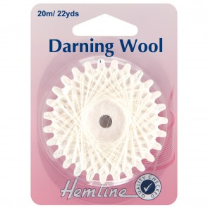 Darning Wool: 20m - White