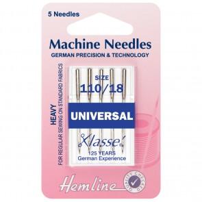 Universal Machine Needles: Heavy 110/18