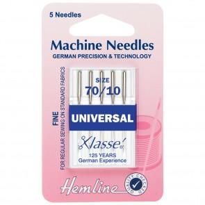 Universal Machine Needles: Fine 70/10
