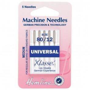 Universal Machine Needles: Medium 80/12
