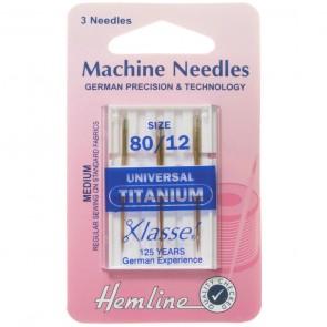 Universal Machine Needles: Titanium