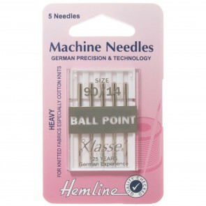 Ball Point Machine Needles: Medium/Heavy 90/14