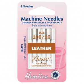 Leather Machine Needles: Heavy 100/16